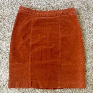 Cognac Pencil Skirt